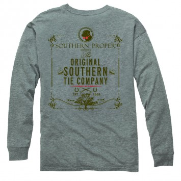 Original Southern Tie Company Tee: Heather Grey